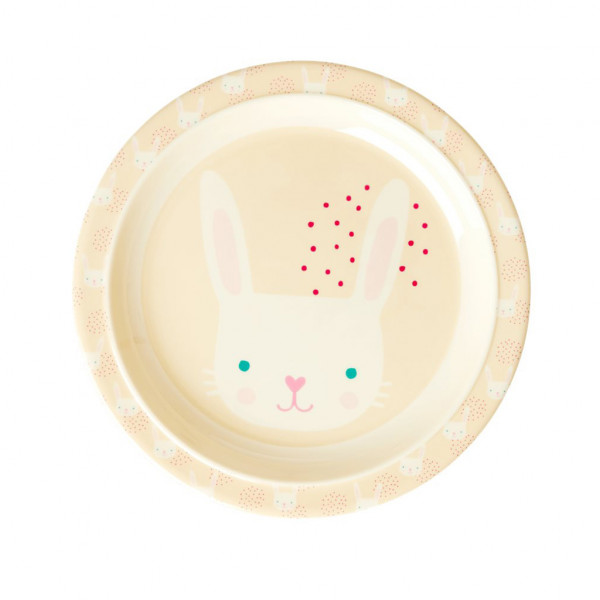 Assiette imprimée mélamine - Rabbit print