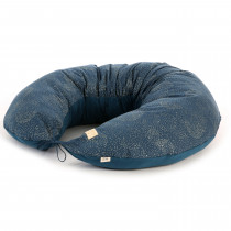 Coussin de maternité Luna - Gold Bubble / Night blue