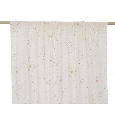 Rideau Utopia 146 x 280 cm - Gold stella / white