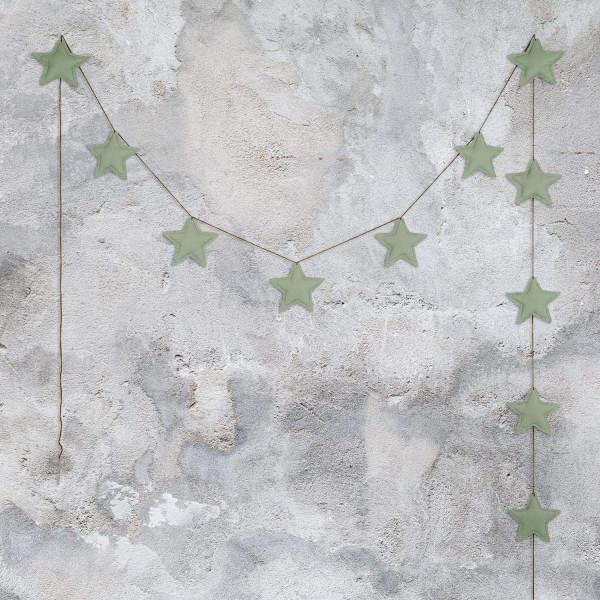 Guirlande tissu - Jaune clair