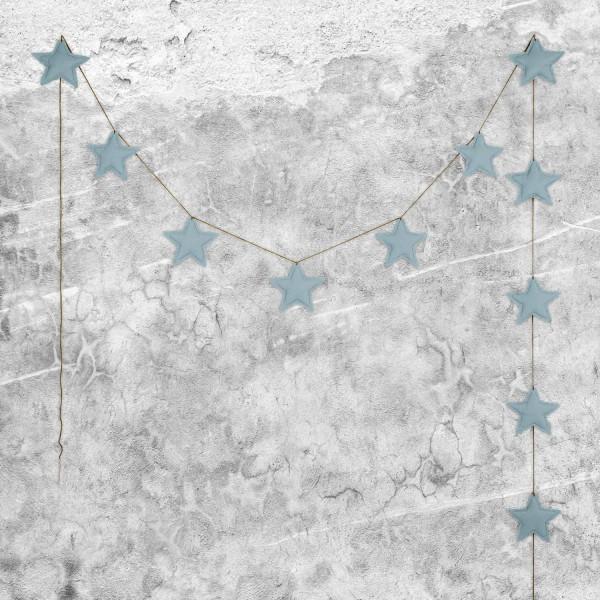 Guirlande tissu - Bleu ciel