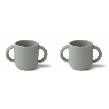 Lot de 2 tasses Gene - Lapin dove blue