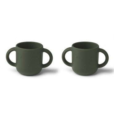 Lot de 2 tasses Gene - Lapin hunter green