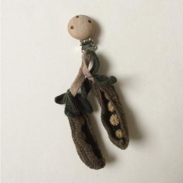 Clip hochet pour poussette - Petit pois