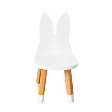 Chaise Lapin Blanc - Boogy Woody