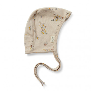 Bonnet bébé en coton bio - Nostalgie blush