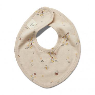 Bavoir bébé en coton bio - Nostalgie blush