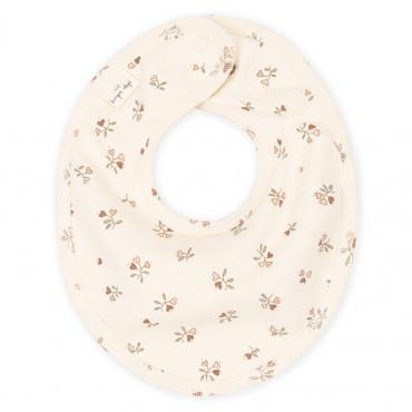 Bavoir bébé en coton bio - Petite rose amour