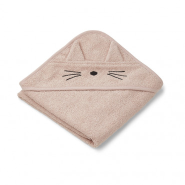 Cape de bain Albert - Chat rose