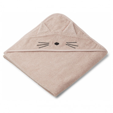 Cape de bain Augusta - Chat rose