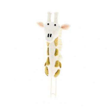 Patère en feutrine - Girafe pastel