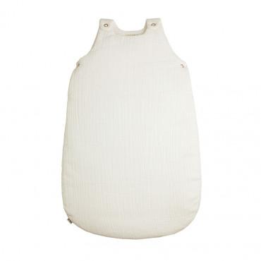 Gigoteuse en coton bio lange uni - Blanc