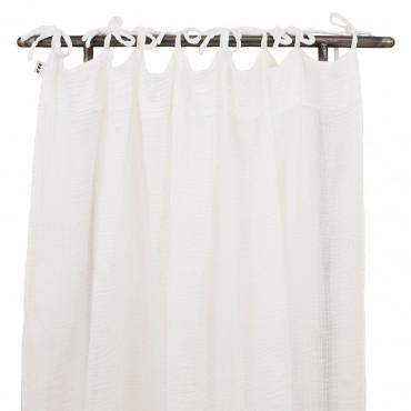 Rideau gaze de coton - Blanc