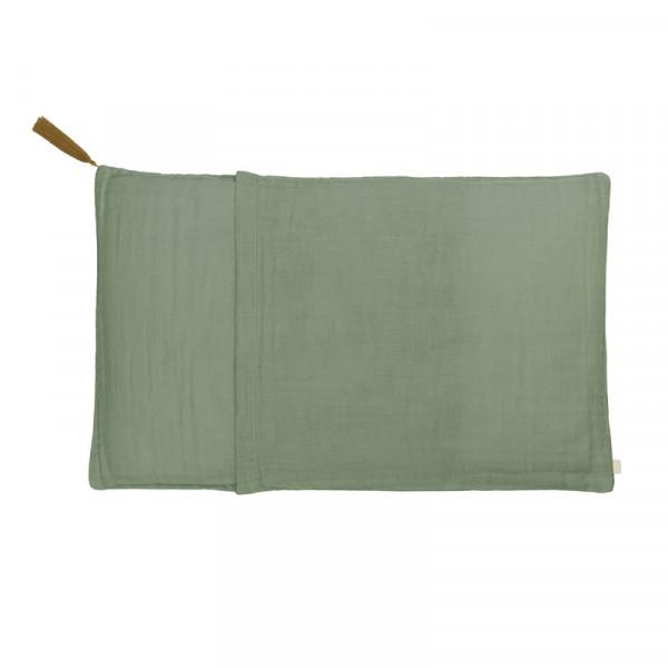 Taie d'oreiller en coton bio - Vert sauge