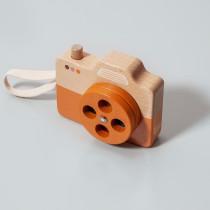 Appareil photo en bois 4 couleurs - Orange