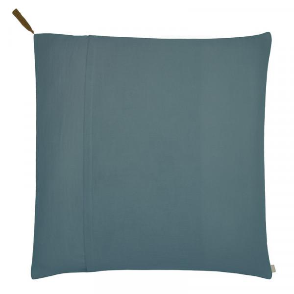 Taie d'oreiller en coton bio - Bleu gris