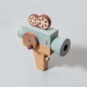Caméra kaléidoscope en bois