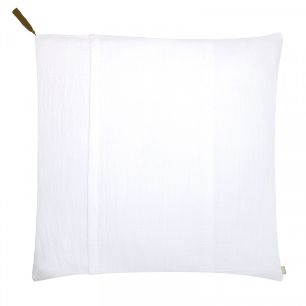 Taie d'oreiller en coton bio - Blanc