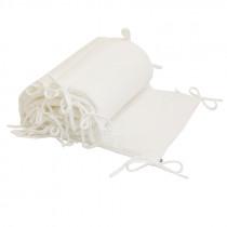 Tour de lit en lange de coton bio - Blanc