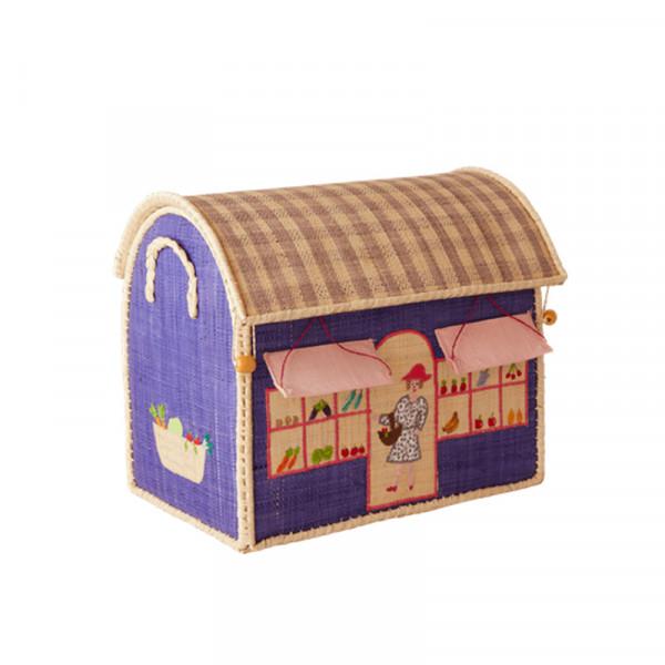 Coffre à jouets en raphia PM - Shop