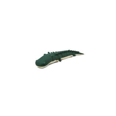 Doudou tricot crocodile garden green - Carlos