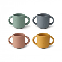 Lot de 4 tasses Gene - Lapin multi mix