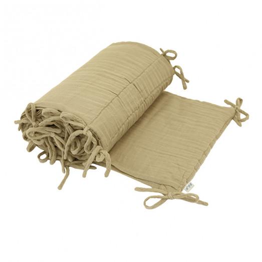 Tour de lit en lange de coton - Jaune clair