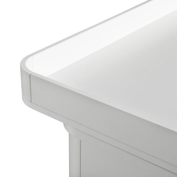 Commode 6 tiroirs avec grand plan à langer Wood - Blanc