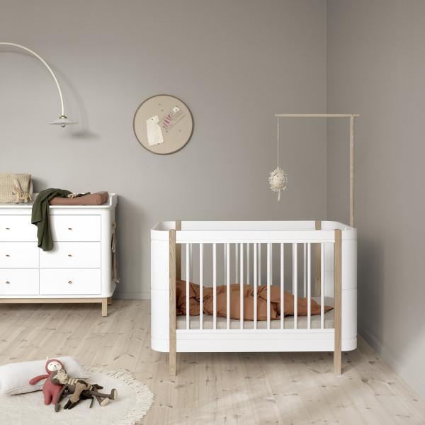 Flèche de lit pour lit Mini+ Wood - Blanc
