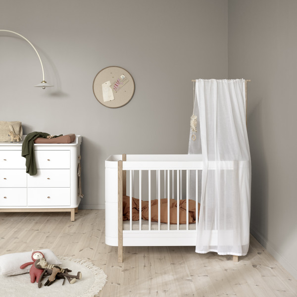 Ciel de lit pour lit bébé Mini+ Wood - Blanc