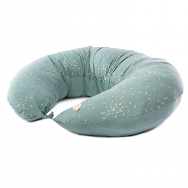 Coussin de maternité Luna - Gold confetti magic green