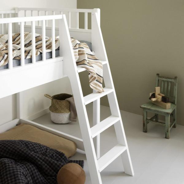Lit mezzanine mi-haut junior Seaside - Blanc
