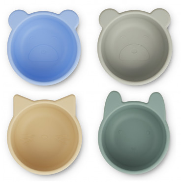 Mini bols en silicone x 4 Malene - Peppermint multi mix