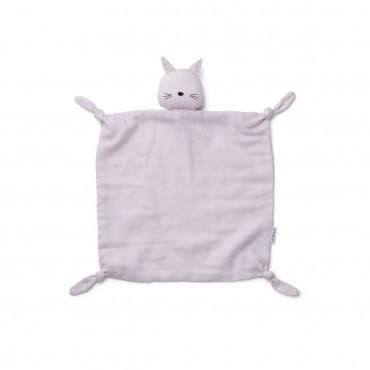 Doudou carré Agnete - Chat lavande
