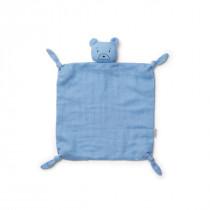 Doudou carré Agnete - Ours bleu