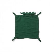 Doudou carré Agnete - Crocodile vert