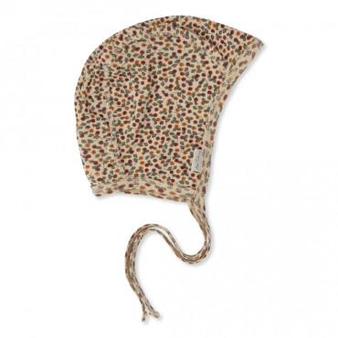 Bonnet bébé en coton bio - Roseraie-red