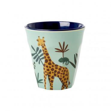 Petit verre en mélamine - Jungle Girafe