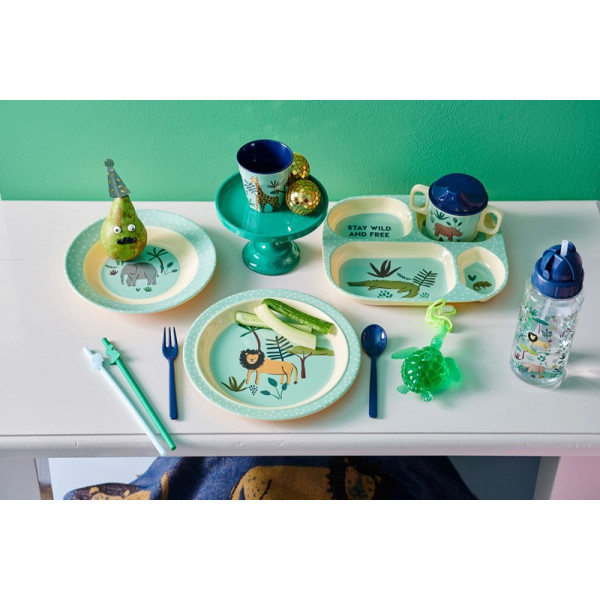 Set repas en mélamine - Jungle animals blue