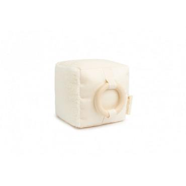 Cube d'activités sensoriel en coton - Naturel