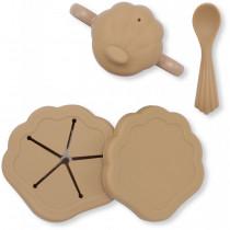Set repas silicone Clam - Terracotta