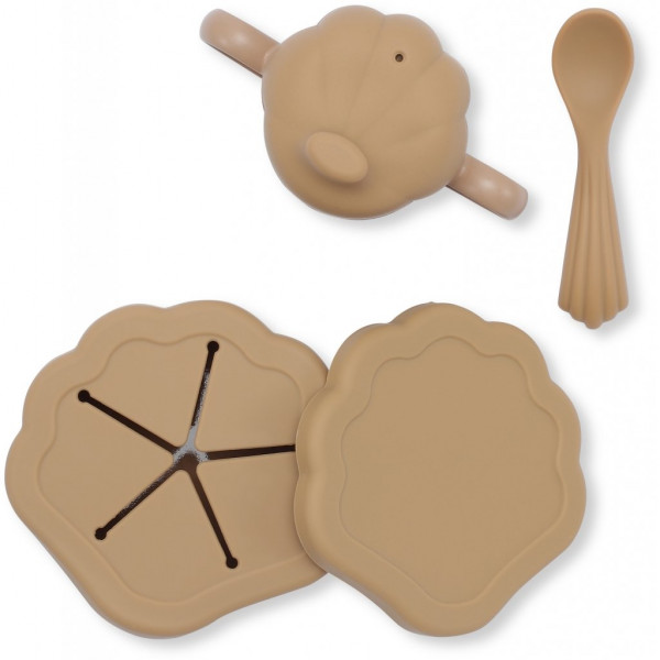 Set repas silicone Clam - Terra cotta