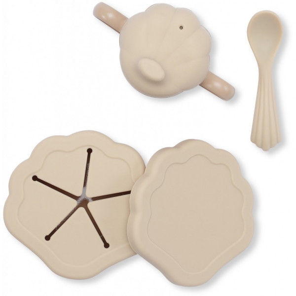 Set repas silicone Clam - Shell
