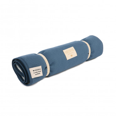 Matelas à langer transportable en nid d'abeille Nomad - Night blue