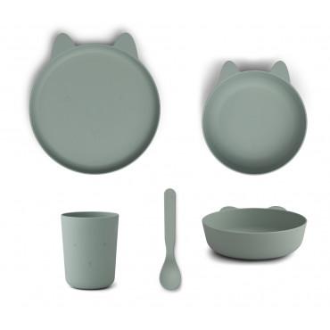 Set repas en bioplastique Paul - Rabbit peppermint