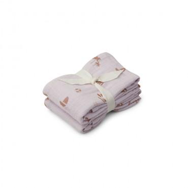 Lot de 2 langes Lewis 70 x 70 cm - Seaside light lavender