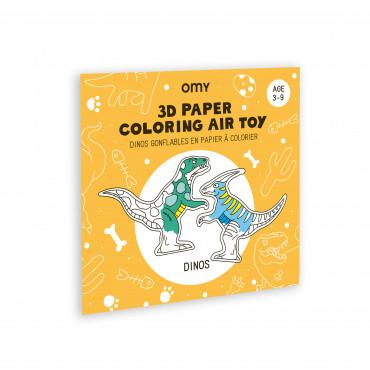 Coloriage jouet 3D - Dinos