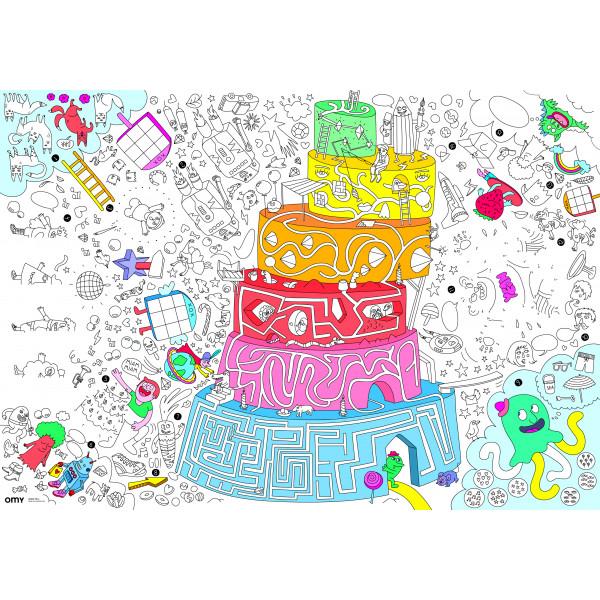 Plateau de jeu géant à colorier - Games