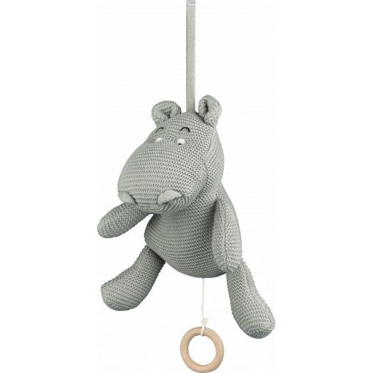 Mobile musical Angela - Hippo dove blue