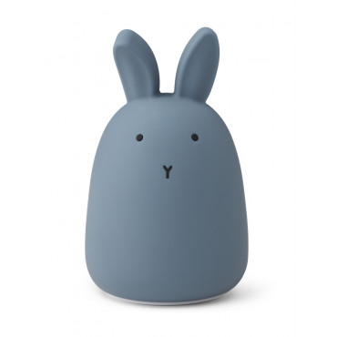 Lampe veilleuse rechargeable Winston - Lapin stormy blue